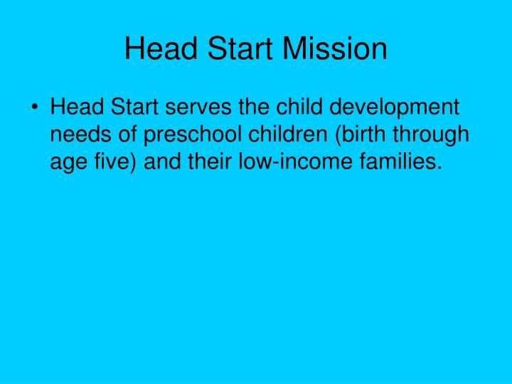 Head Start Mission