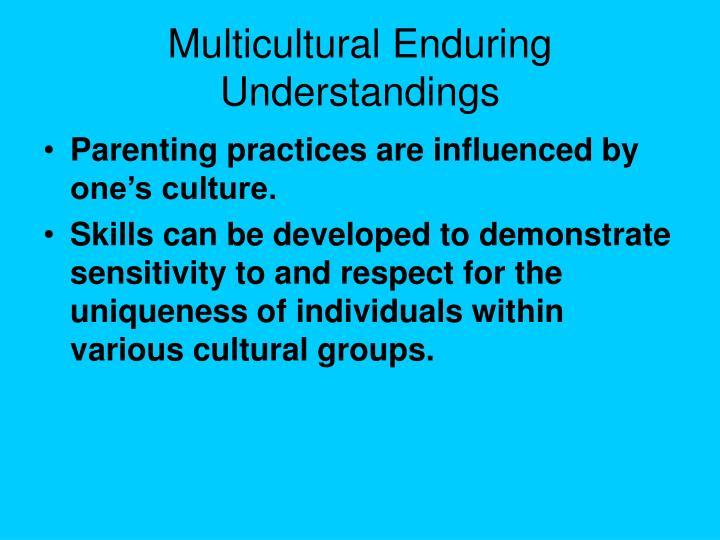 Multicultural Enduring Understandings