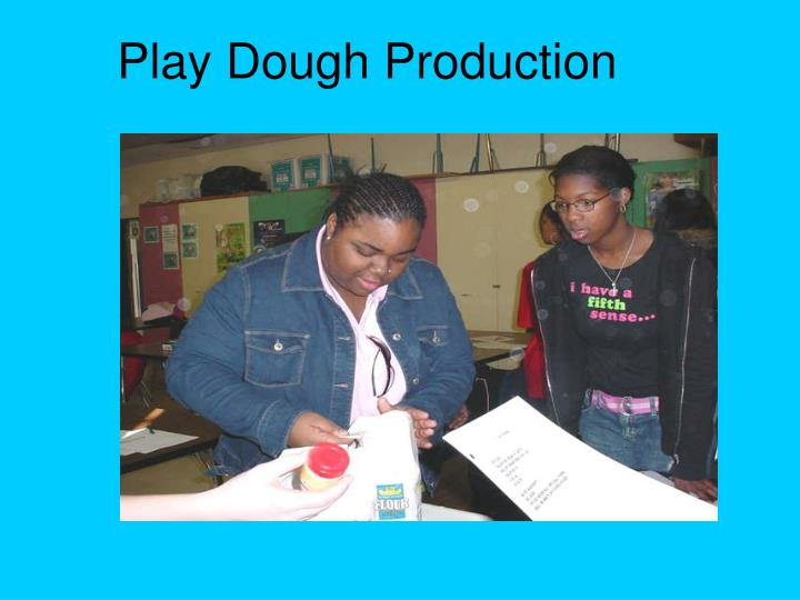 Play Dough Production