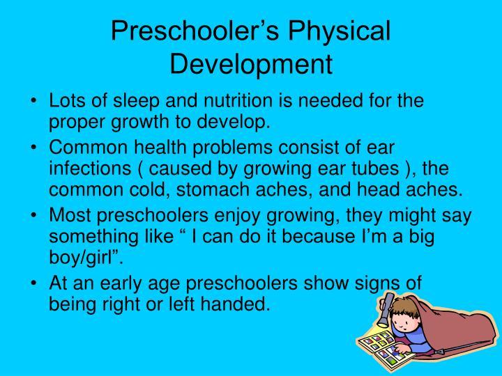 Preschooler's Physical Development