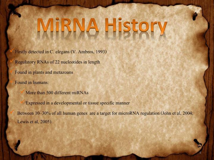 MiRNA History
