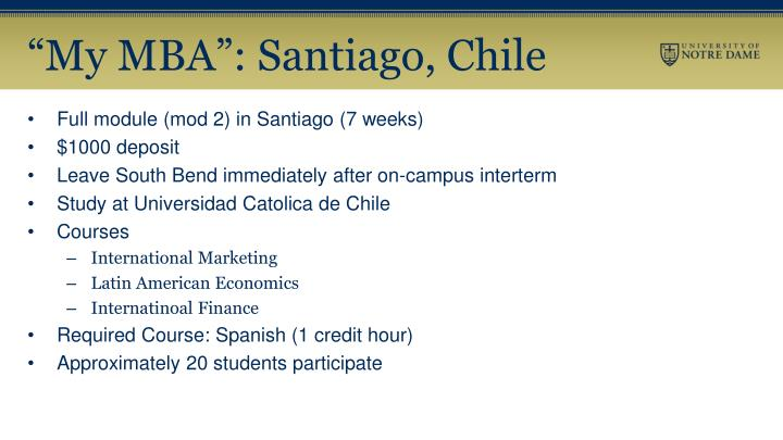 """My MBA"": Santiago, Chile"