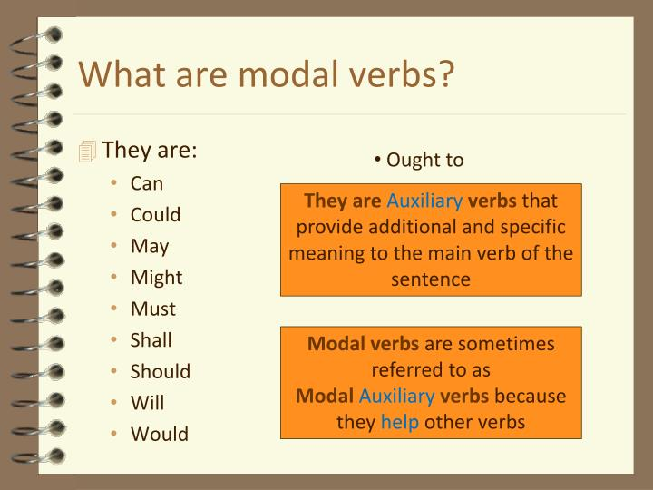 What are modal verbs