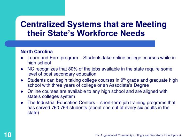 Centralized Systems that are Meeting their State's Workforce Needs