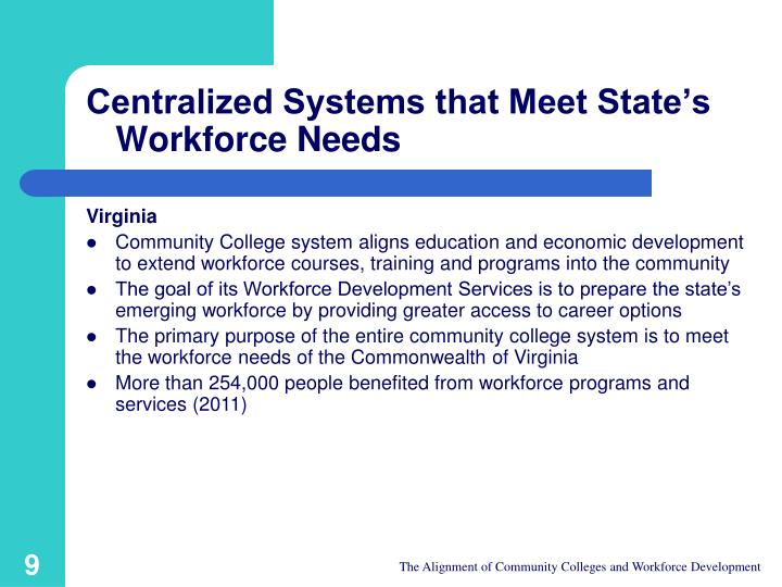 Centralized Systems that Meet State's Workforce Needs