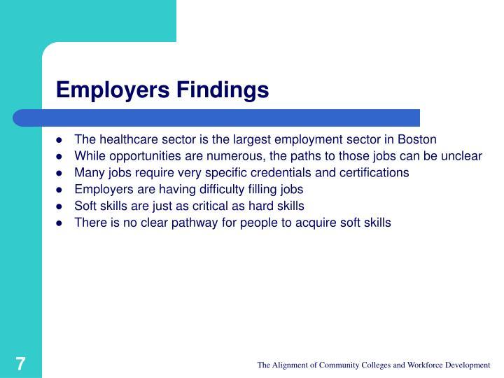 Employers Findings