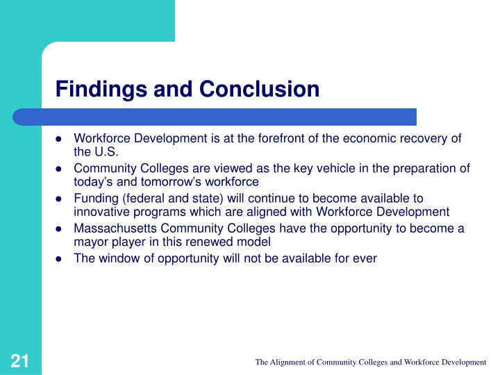 Findings and Conclusion