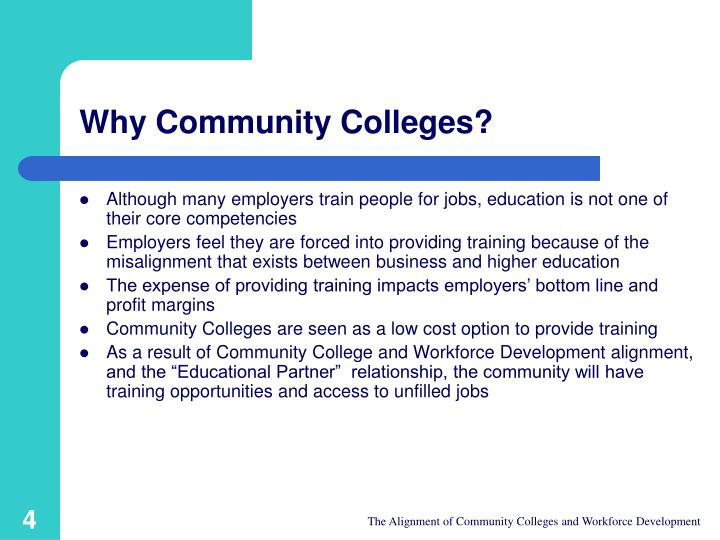 Why Community Colleges?