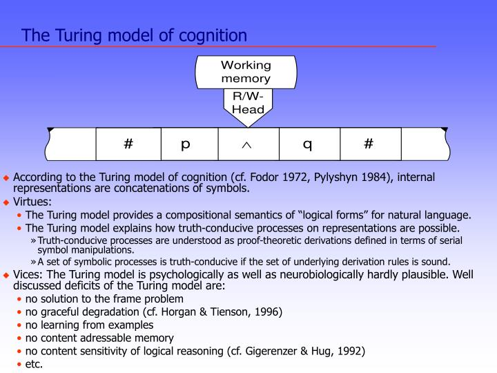 The Turing model of cognition