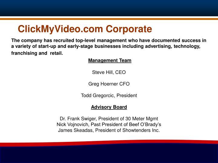ClickMyVideo.com Corporate