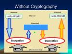 without cryptography24