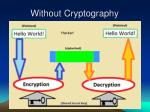 without cryptography30