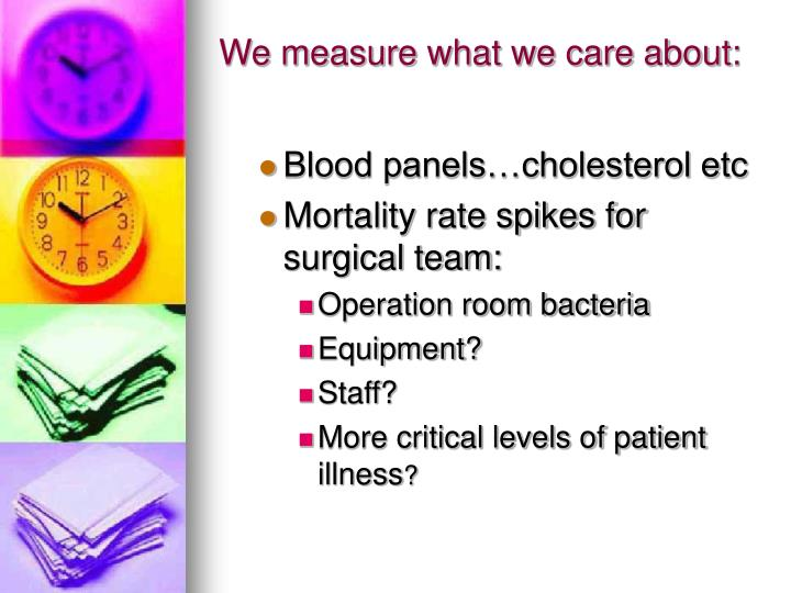 We measure what we care about: