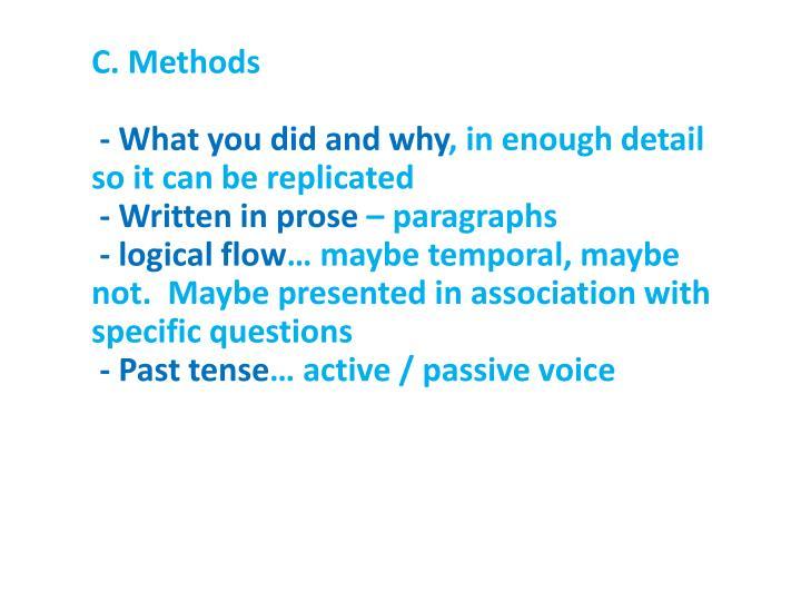 C. Methods