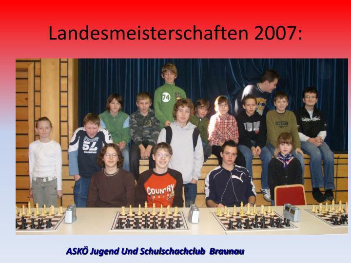 Landesmeisterschaften 2007: