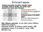 eritrosit say m1