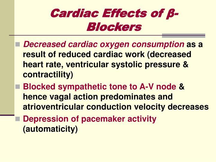 Cardiac Effects of β-Blockers