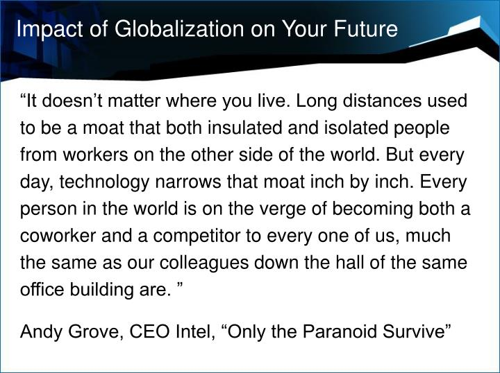 Impact of Globalization on Your Future