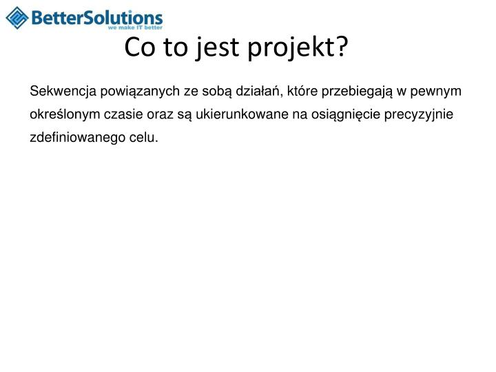 Co to jest projekt