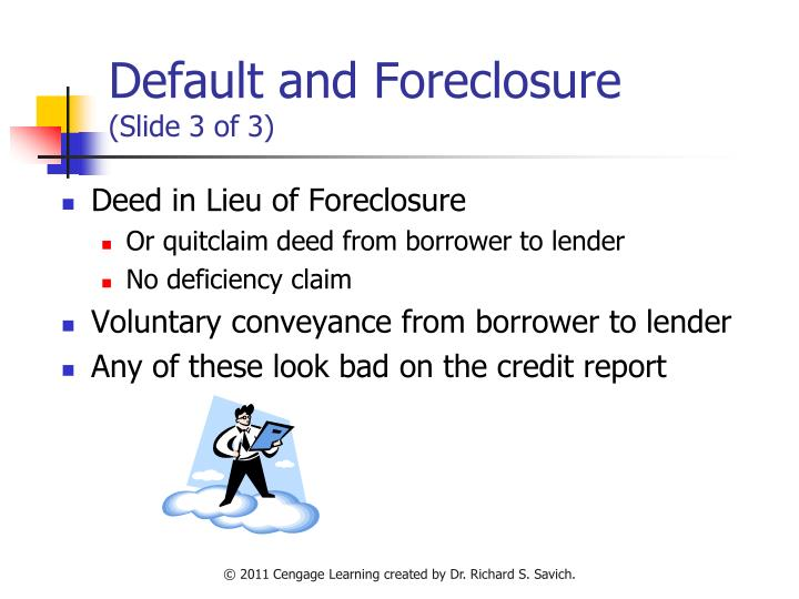Default and Foreclosure