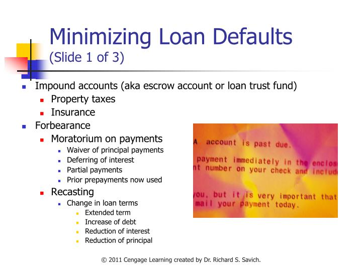 Minimizing Loan Defaults