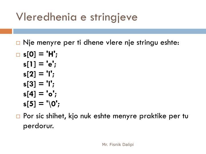 Vleredhenia e stringjeve