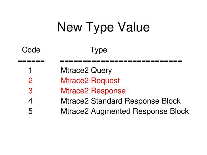 New Type Value
