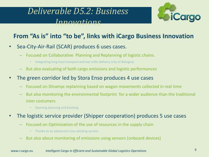 Deliverable D5.2: Business Innovations