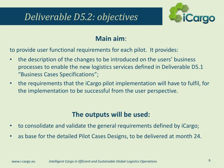 Deliverable D5.2: