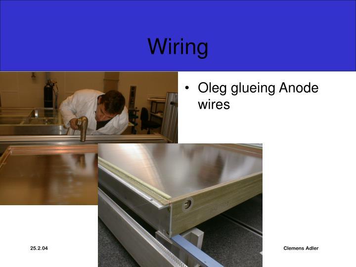 Oleg glueing Anode wires