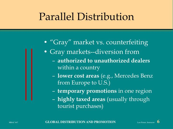 Parallel Distribution
