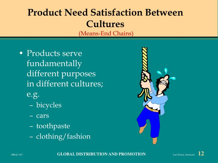 Product Need Satisfaction Between Cultures