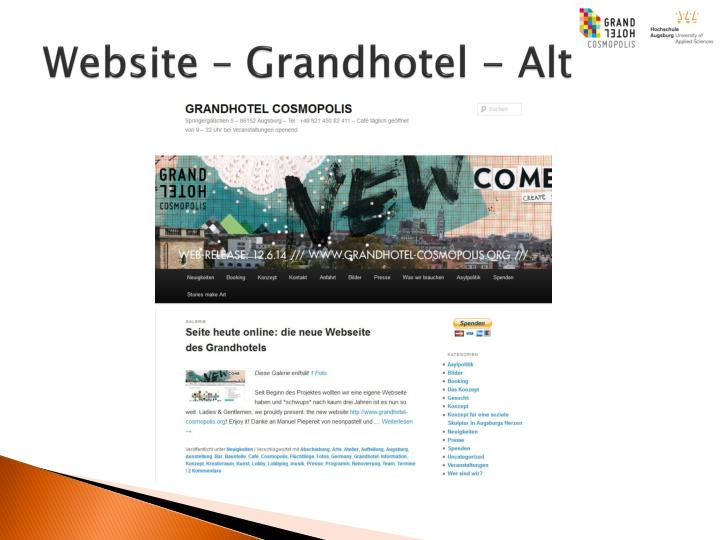 Website – Grandhotel - Alt