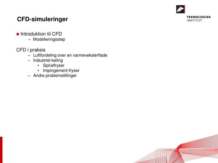 CFD-simuleringer