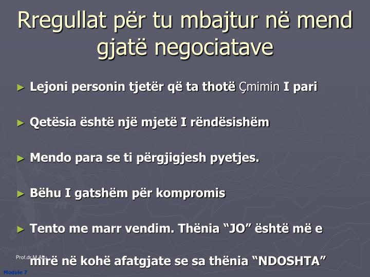 Rregullat për tu mbajtur në mend gjatë negociatave
