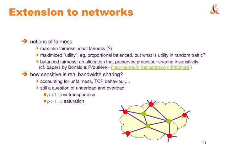 Extension to networks