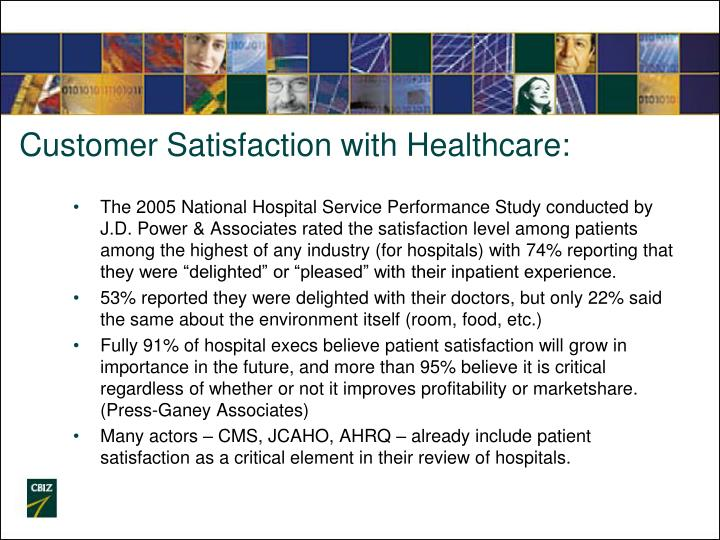 Customer Satisfaction with Healthcare: