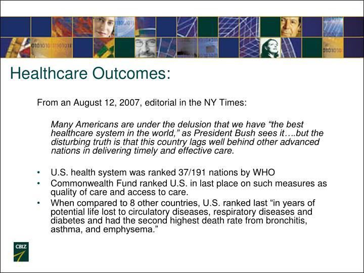 Healthcare Outcomes: