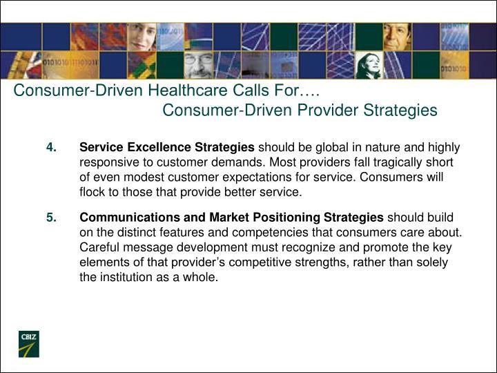 Consumer-Driven Healthcare Calls For….