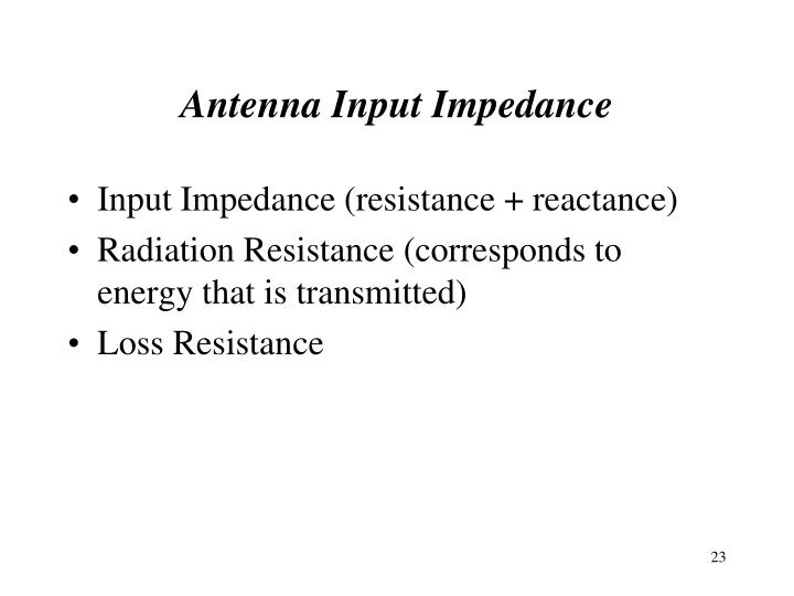 Antenna Input Impedance
