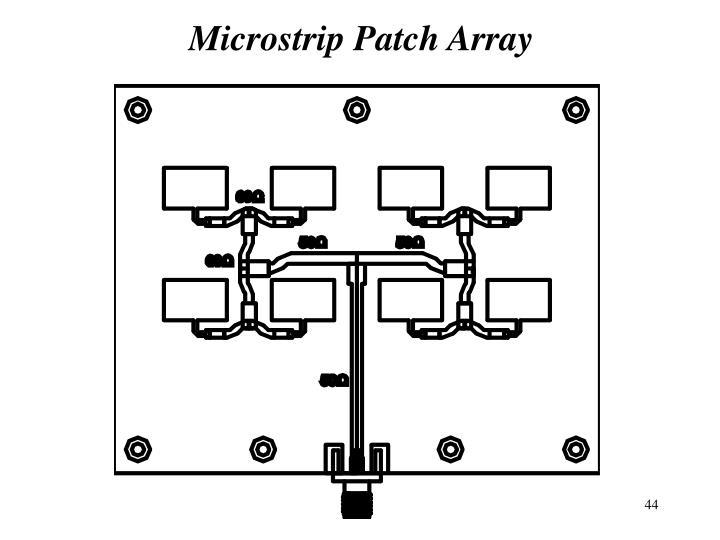 Microstrip Patch Array