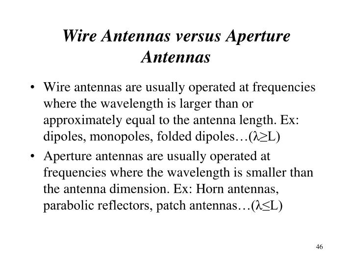 Wire Antennas versus Aperture Antennas