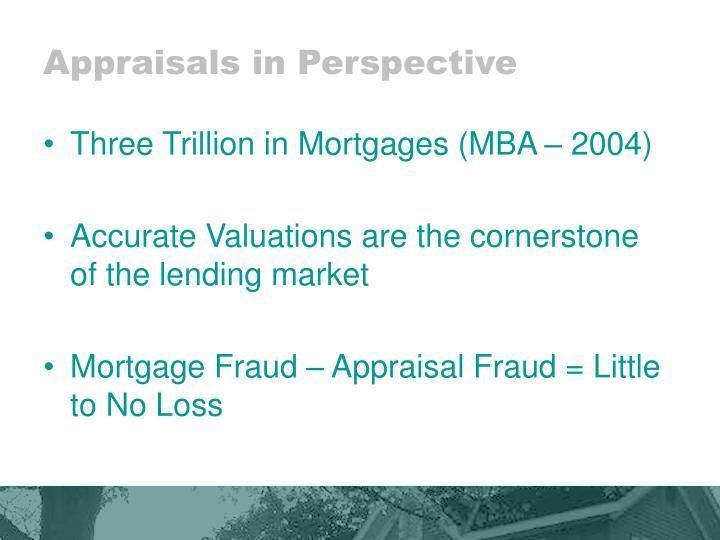 Appraisals in Perspective