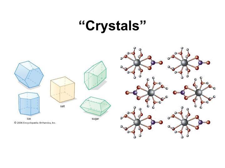 """""""Crystals"""""""