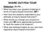 share out fda tour