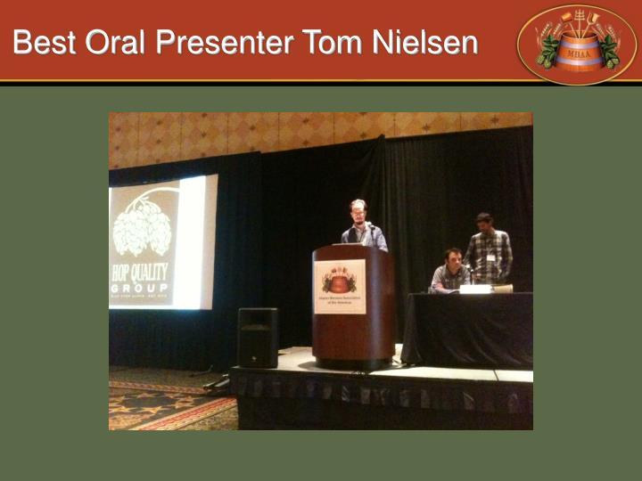 Best Oral Presenter Tom Nielsen