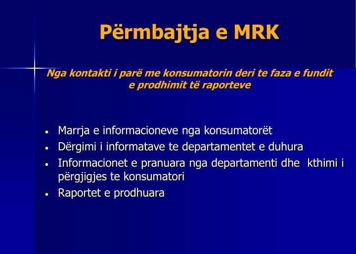 Përmbajtja e MRK