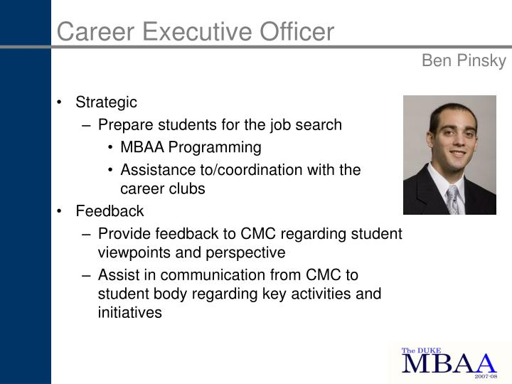 Career Executive Officer