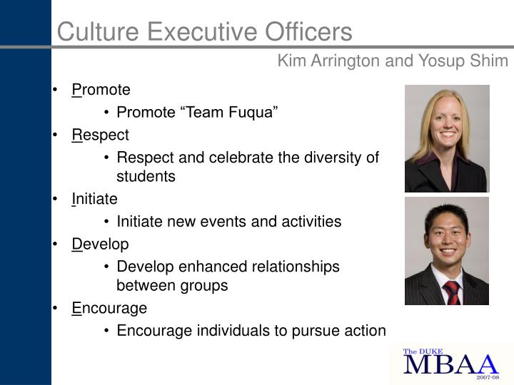 Culture Executive Officers