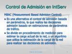control de admisi n en intserv4
